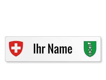 St. Gallen Namensschild